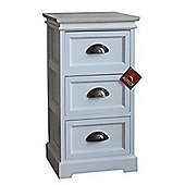 Amore 3-Tier Storage Cabinet-White