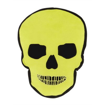 Catherine Lansfield Skulls 3D Cushion - Green