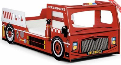 Ultimum Fire Engine Kids Single Bed