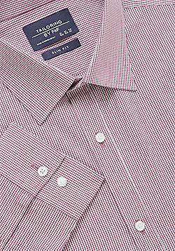 F&F Gingham Slim Fit Long Sleeve Shirt - Red