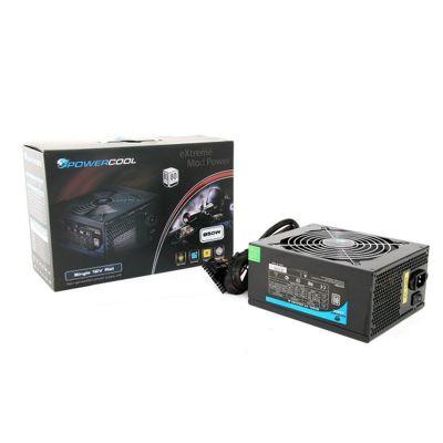 850W Modular Powercool Black PSU 80 Plus 12cm Fan SATA Power Supply