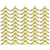 Harbour Housewares Pack of 50 Yellow Childrens Wooden Clothes / Coat Hangers
