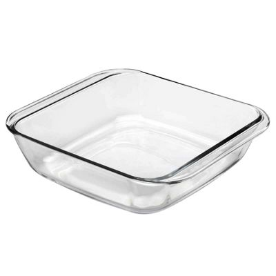 Duralex Square Chef Roasting Dish - Clear - 270x270mm
