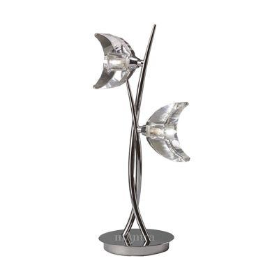 Eclipse Table Lamp 2 Light Polished Chrome