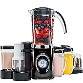 Andrew James Smoothie Maker with Drinking Cups in Black