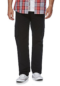 F&F Loose Fit Cargo Trousers - Black