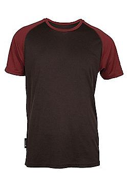 Mens Endurance High Wicking Quick Drying Baselayer Short Sleeve Base Layer Top - Brown