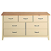 Steens Norfolk 3+4 Drawer Chest Cream/Oak