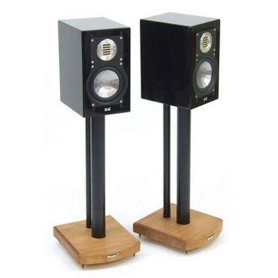 MOSECO 5 Black and Light Oak Speaker Stands
