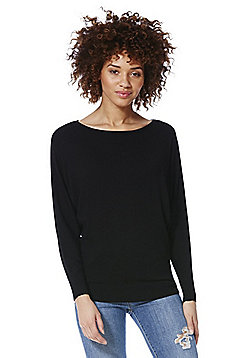 F&F Batwing Sleeve Jumper with As New Technology - Black