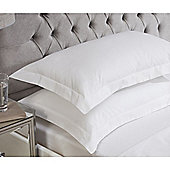 Julian Charles Luxury 180 Thread Count Oxford Pillowcases - White