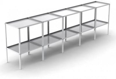 Babbington 2 Tier Aluminium Potting Tray Staging 10ft x 18
