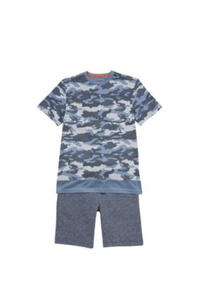 F&F Camo T-Shirt and Shorts Set Multi 5-6 years