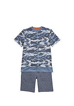 F&F Camo T-Shirt and Shorts Set - Multi