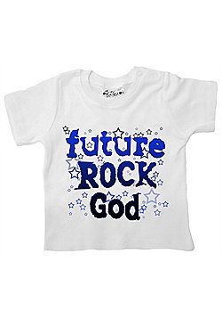 Dirty Fingers Future Rock God Baby T-shirt - White