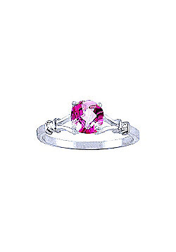 QP Jewellers Diamond & Pink Topaz Aspire Ring in 14K White Gold