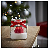 Tesco Christmas Present Candle in Jar