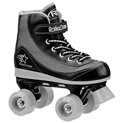 Roller Derby FireStar V2 Quad Skates - Black/Grey - Size - UK 3