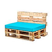 Turquoise Seat Fibre Printed Pallet Cushions Hollowfibre Garden Patio
