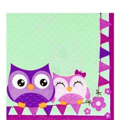 Owls Napkins - 2ply Paper - 20 Pack