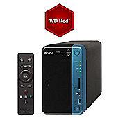 Qnap TS-253B-4G-16TB-RED 2-Bay 16TB(2x8TB WD RED) Quad-core Diskless NAS