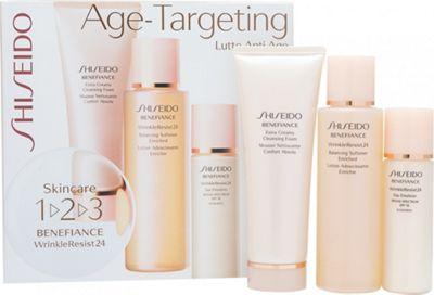 Shiseido Benefiance WrinkleResist24 1-2-3 Kit 100ml Balancing Softener Enriched + 75ml Extra Creamy Cleansing Foam + 30ml Day Emulsion SPF18