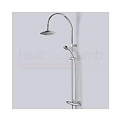 Bristan Oval Thermostatic Surface Mounted Shower Valve With Diverter