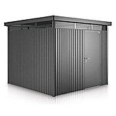 8 x 8 Premier Heavy Duty Metal Higher Ridge Height Silver Metallic Shed with Single Door (2.75m x 2.75m) 8ft x 8ft