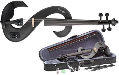 Stagg EVN Electric Violin Outfit - Metallic Black