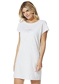 F&F Slogan Sleep T-Shirt - Grey