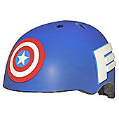 Avengers Captain America, Kids' Bike Helmet, Blue, 50-54cm