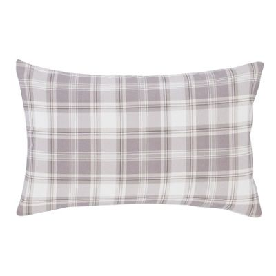 Catherine Lansfield Tartan Stripe Pillowcases - Grey
