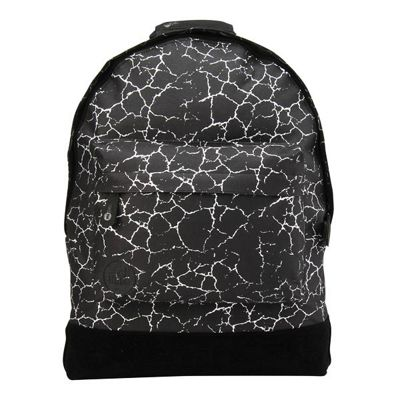 Children's Mi Pac Backpack - Cracked Black & Silver, Children's Backpacks, Boy's Backpacks