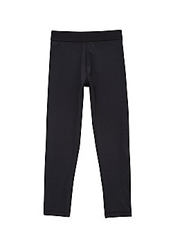 F&F Easy Care Quick Dry Base Layer Leggings - Black