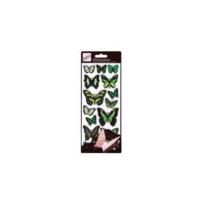 Dimensions Sticker Butterflies Green