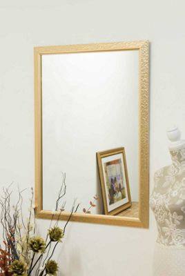 Gold Mottled Effect Wall Mounted Mirror 3Ft4 X 2Ft4 102cm x 72cm