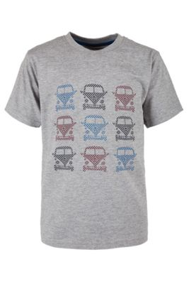 Check Camper Kids Tee Shirt 100% Cotton Round Neck T-Shirt