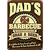 Dad's Barbecue Tin Sign
