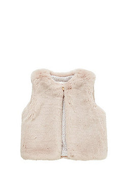 F&F Faux Fur Gilet - Pink