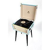 GPO BERMUDA Retro Turntable with USB Record Blue
