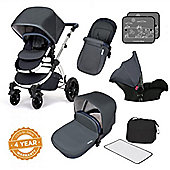 Ickle Bubba Stomp V4 Special Edition Travel System plus Stroller Bag - Blueberry Chrome
