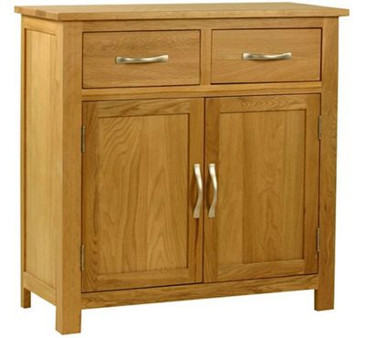 Kelburn Furniture Essentials Mini Sideboard in Light Oak Stain and Satin Lacquer