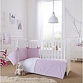 Clair de Lune 2pc Cot/Cot Bed Bedding Set (Barley Bebe Pink)