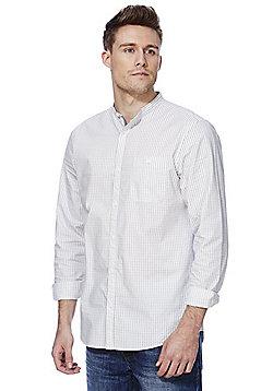 F&F Striped Grandad Collar Shirt - Cream