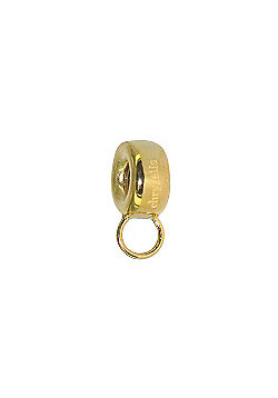 Chrysalis Gold Plain Chunky Slide On Charm Spacer