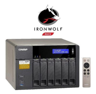 QNAP TS-653A-8G/24TB-IW 6-Bay 24TB(6x4TB Seagate IronWolf) Network Attached Storage with 8GB RAM