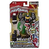 Power Rangers Mixx N Morph Figure Green Tiger Ranger Zord