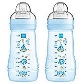 MAM Baby Bottle 270ml 2pk Blue