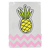 Tropical A5 Exercise Glitter Notebook Lined/Ruled Pages-Pineapple