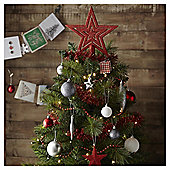 Red and White Mixed Christmas Tree Decorations, 60 Pack